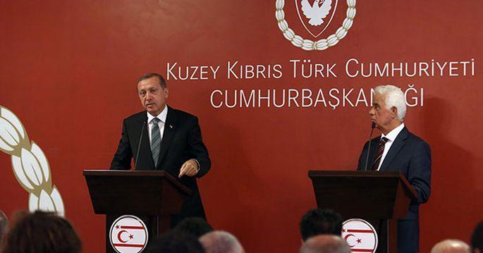 Erdoğan: Elimiz Kuzey Kıbrıs\'ın üzerindedir