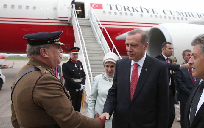 Erdoğan, NATO zirvesi için Galler\