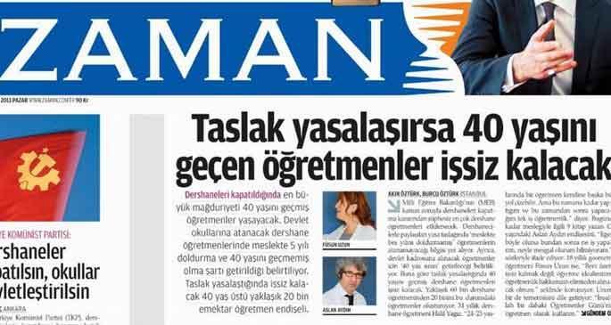 Erdoğan Zaman'ın manşetine yanıt verdi