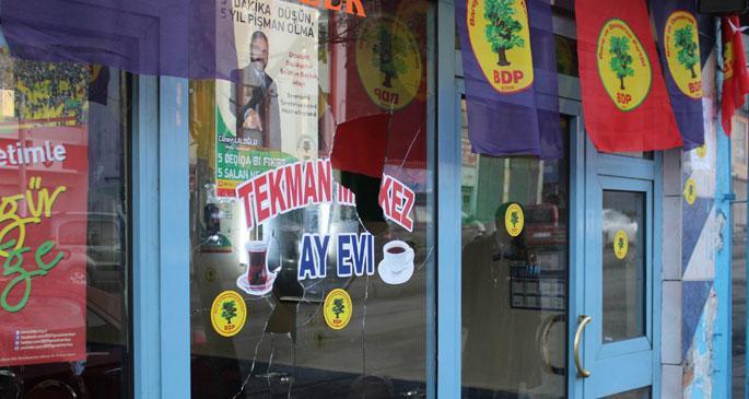Erzurum'da BDP seçim bürosuna saldırı