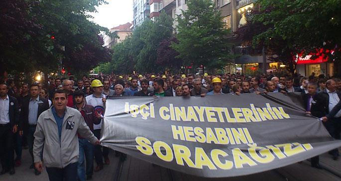 Eskişehir'de binler Soma katliamını lanetledi