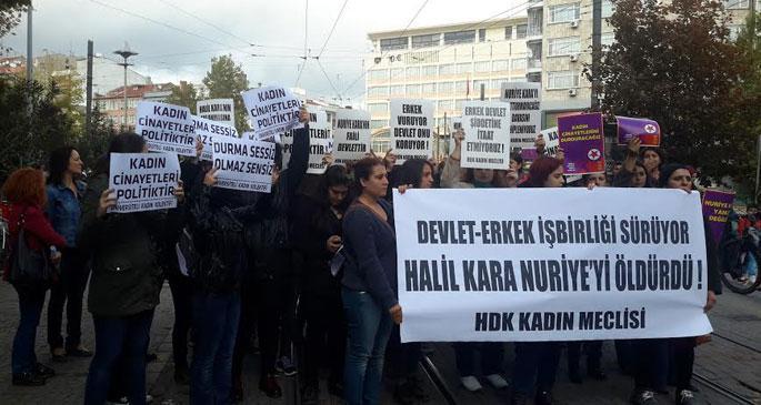 Eskişehir'de kadın cinayeti protestosu