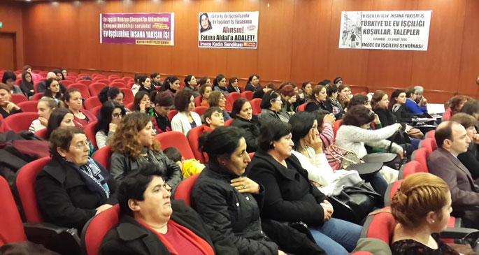 Ev işçiliğinin koşulları konferansta tartışıldı
