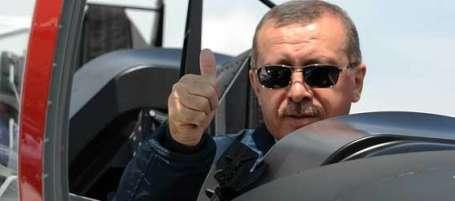 Erdoğan uçuşa geçti