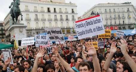 İsyan ateşi İspanya'da