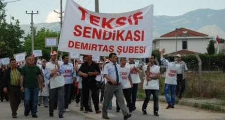 Bursa Okiteks'te sendikalı 200 işçi işten atıldı