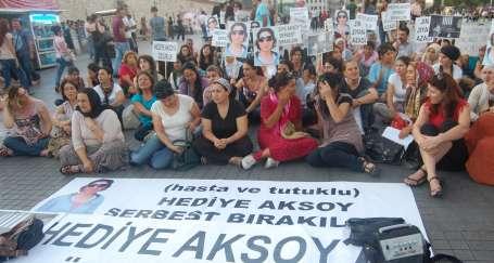 Hediye Aksoy için oturma eylemi 8. haftada