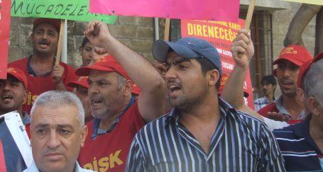 Belediyede taşeron işçi tepkisi
