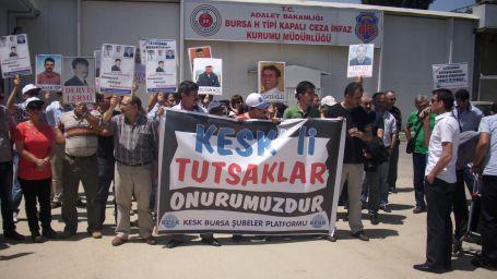 KESK'li tutuklularla dayanışma