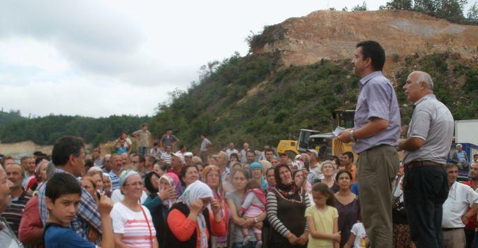 Fatsa'da köylüler, siyanürlü altın madenciliğine karşı ayakta