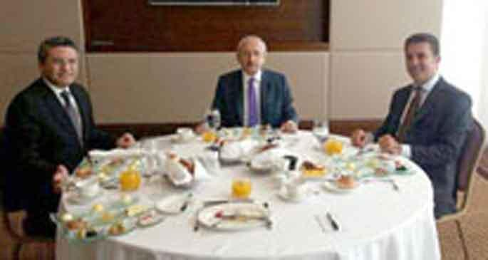 Kahvaltıda buluştular
