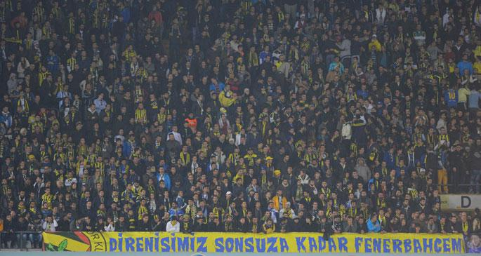 Fenerbahçe tribünlerinde \