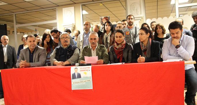 Fransa'da Demirtaş'a destek açıklaması
