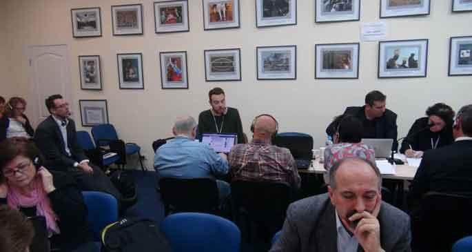 Gazetecilere yönelik baskı Ukrayna'da konuşuldu