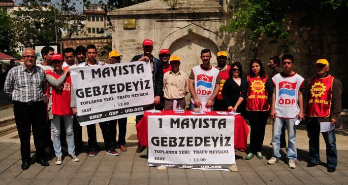 Gebze'de 1 Mayıs kürsüsü işçilerin olacak