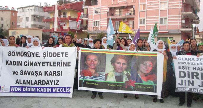 HDP'li kadınlar alanlarda