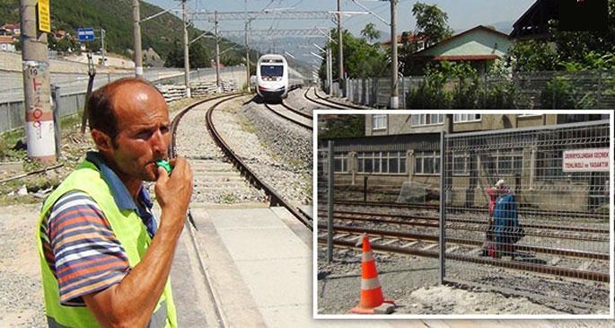 Hızlı tren hattında insanların hayatı bir düdüğe bağlı