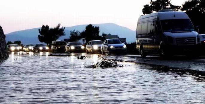 İsale hattı 11. kez patlayan Bodrum\