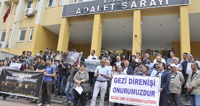 İzmit\'te Gezi davası öncesi protesto