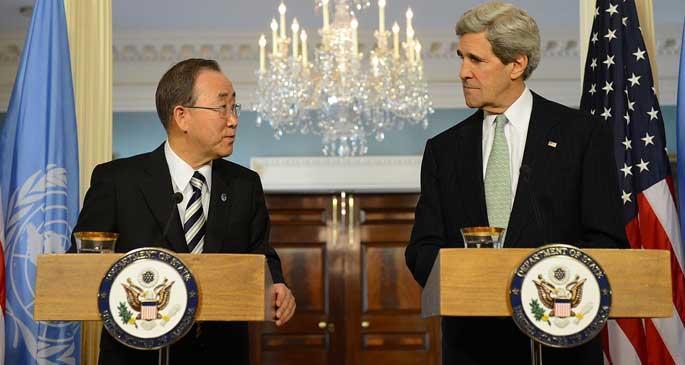 John Kerry ve Ban Ki-moon, Ortadoğu\