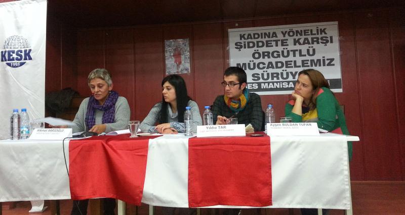 'Kadına şiddete  örgütlü mücadele'