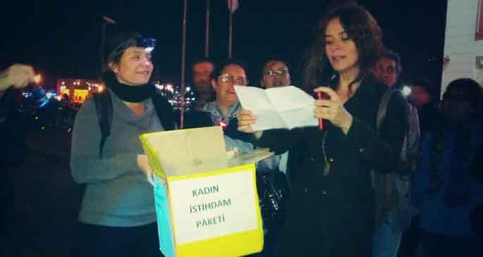 Kadınlar 'Kadın istihdam paketi'ni protesto etti