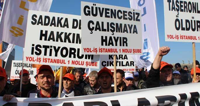Karayolları taşeron işçilerinin 'taşeron işçilikle' mücadelesi