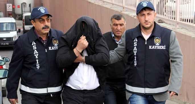 Kayseri'de cinayet şüphelisi tutuklandı