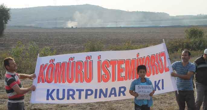 Kömür tesisleri hayatlarını karartıyor