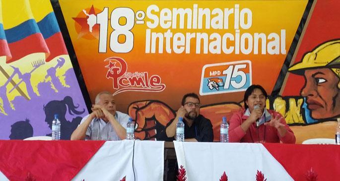 Latin Amerika seminerinde enternasyonel mücadele vurgusu