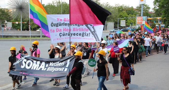 LGBTİ bireyler Soma için yürüdü