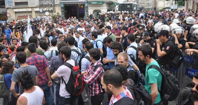 Lice için Taksim'e yürümek isteyenlere polis engeli