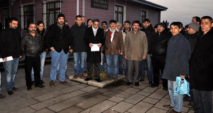 Maden işçilerinden yardım sandığı protestosu