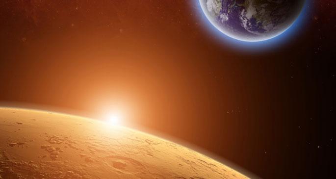 Mars\'ın zıtlığı