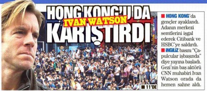Meğer Hong Kong'u karıştıran Watson'muş!