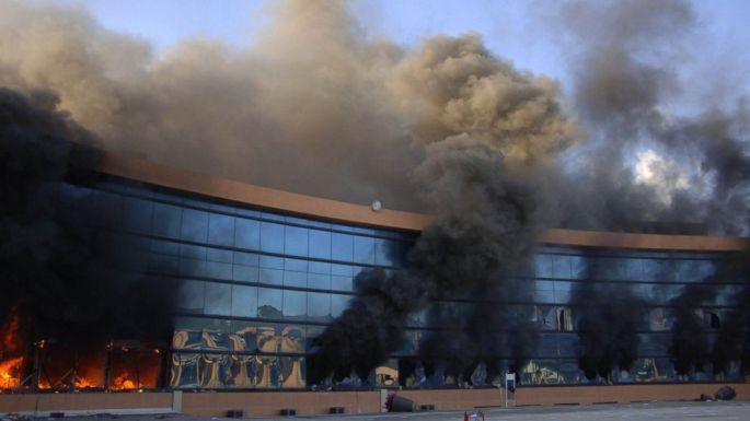 Meksika'da hükümet binası ateşe verildi