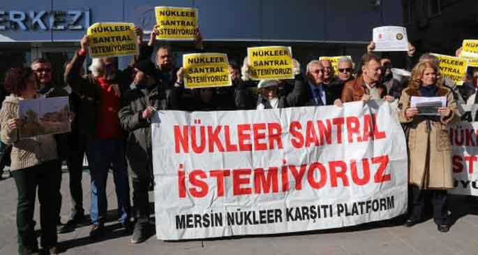 Mersin\'de nükleer santrale karşı eylem