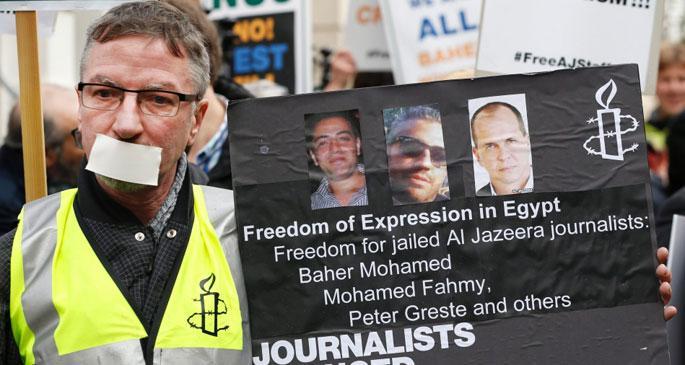 Mısırlı gazeteciler hakim karşısındaydı