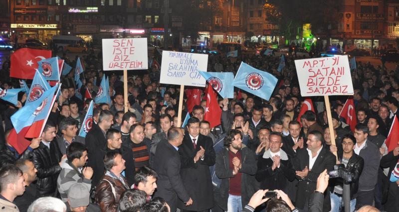 MKE işçilerinden özelleştirmeye karşı eylem