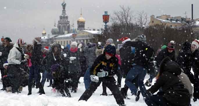 Moskova'da  en büyük kar savaşı gerçekleştirilecek