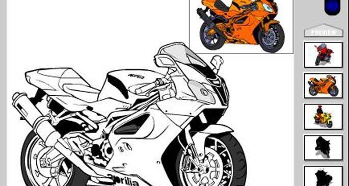 Motorcu Boyama Oyunu Evrenselnet