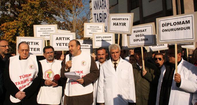 Muayenehane yasak özel hastane serbest