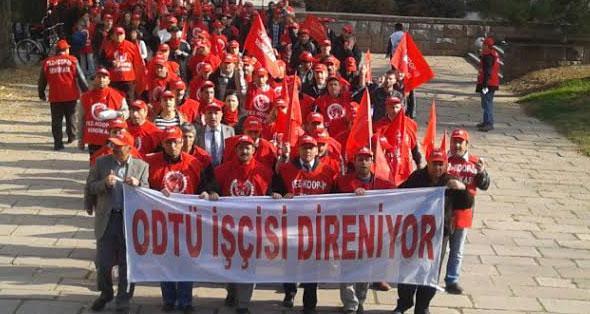 ODTÜ'de adım adım greve