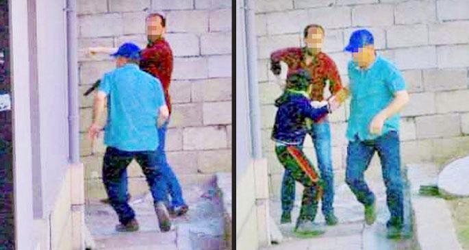 Polis 7 yaşındaki çocuğa silah çekti