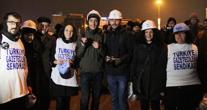 Polis şiddetine karşı gazetecilere baret!