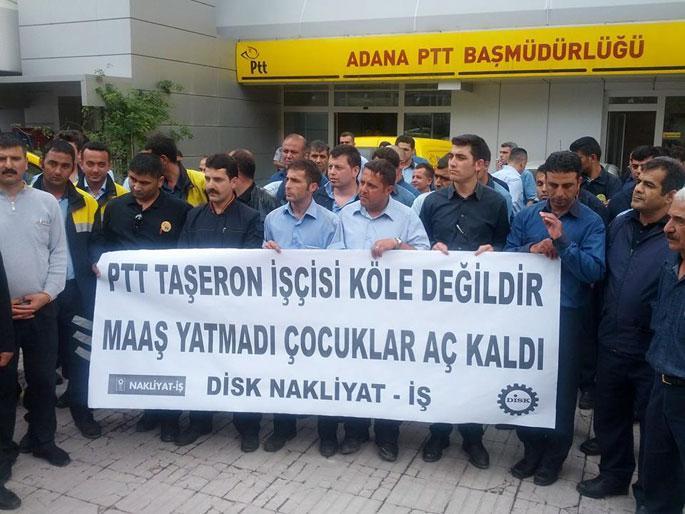 PTT işçileri iş bıraktı