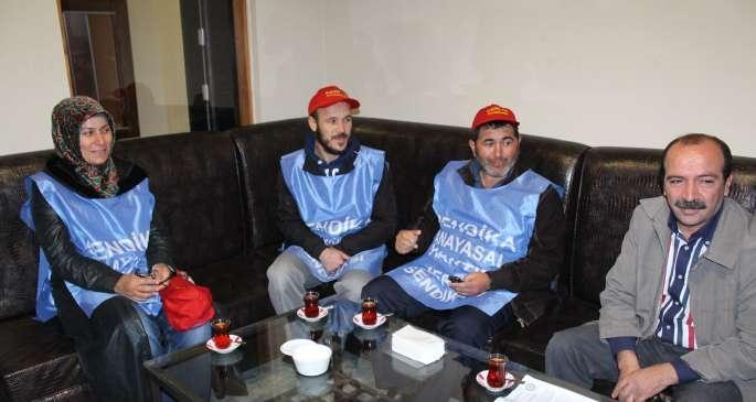 Punto Deri işçileri gazetemizi ziyaret etti