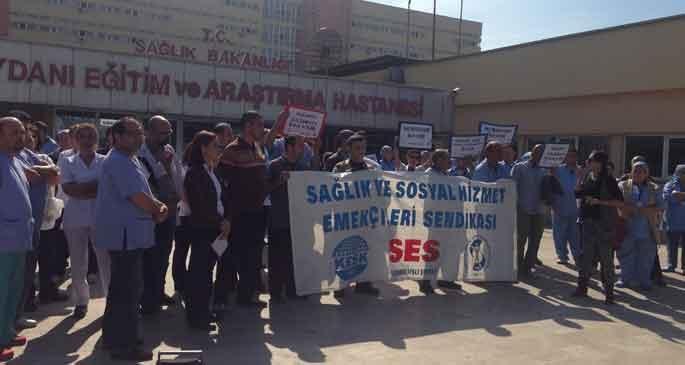Sağlıkçılar hastanedeki baskılara isyan etti