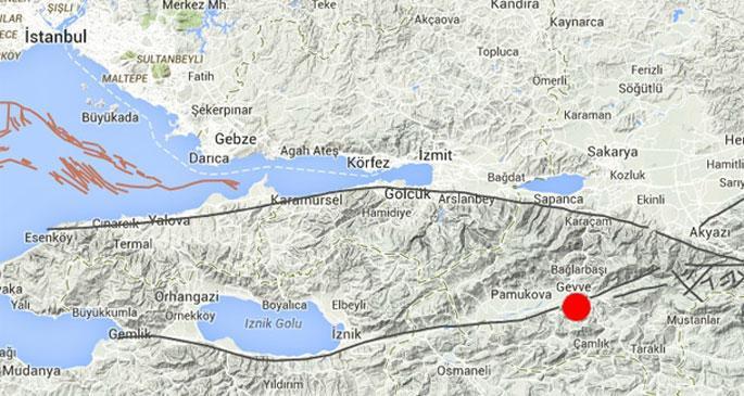 Sakarya'da 4,5 büyüklüğünde deprem