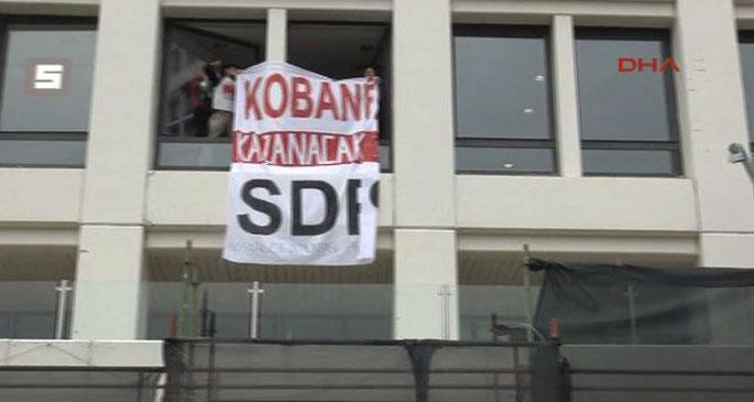 SDP üyeleri Kobanê için El Cezire Türk\'ü işgal etti